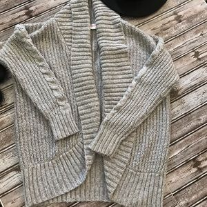 Mossimo Chunky Gray Sweater Cardigan Size L